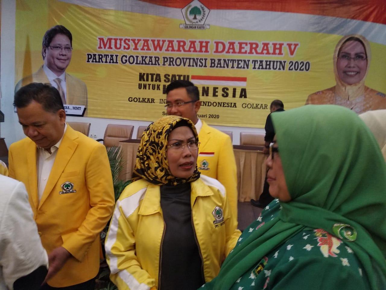 Tatu Pimpin Kembali Partai Golkar Banten